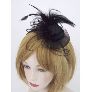 Black Fascinator Alice - FAA002