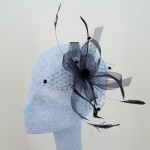 Black Fascinator Amber - FAS033