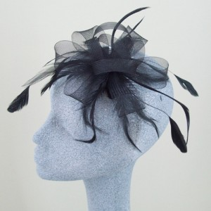 Black Fascinator Caggie  - FAS031