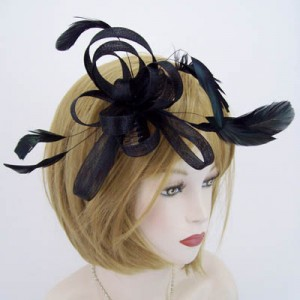 Black Fascinator Dorothy - FAS014