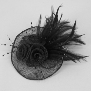 Black Fascinator Ivy - FAS205