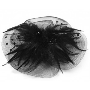 Black Fascinator Jessie - FAS207
