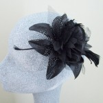 Black Fascinator Lauren - FAS080