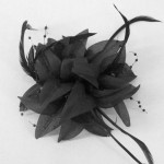 Black Fascinator Niah FAS233