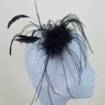 Black Fascinator Rosie - FAS034