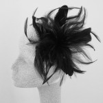 Black Fascinator Tiffany - FAS084