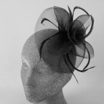 Black Fascinator Hat Aubrey - FAS247