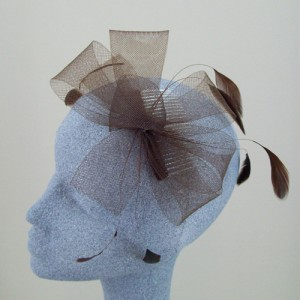 Brown Fascinator Cindy - FAS050