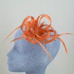 Burnt Orange Fascinator Carly - FAS070