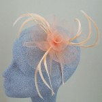 Coral and Peach Fascinator Steph - FAS059