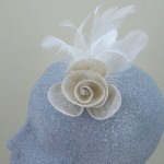 Cream Fascinator Ashleigh - FAS046