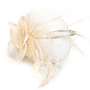Cream Fascinator Kimberley - FAS095