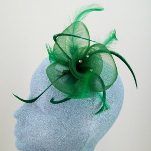 Dark Green Fascinator Kelly - FAS016