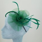 Dark Green Fascinator Siobhan - FAS017