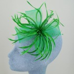Emerald Green Fascinator Carole - FAS013