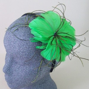 Emerald Green Fascinator Lottie - FAS214