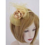 Old Gold Fascinator Genevieve - FAA005