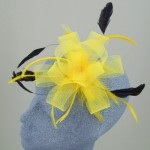 Yellow and Black Fascinator Leah - FAS020