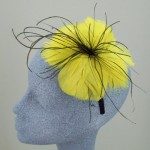 Yellow Fascinator Sally - FAS021