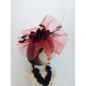 Red Fascinator Hat Francesca - FAS025