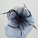 Black Fascinator Jacqui - FAS030