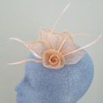 Peach Fascinator Jasmine - FAS057