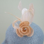 Peach Fascinator Rachel - FAS058