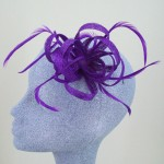 Purple Fascinator Amy - FAS060