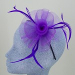 Purple Fascinator Leanne  - FAS061