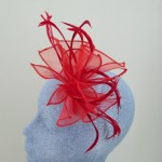Red Fascinator Abigail - FAS065