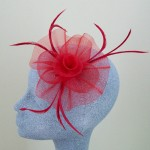 Red Fascinator Hannah - FAS066
