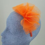 Orange Fascinator Martha - FAS068