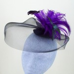 Purple and Black Fascinator Maxine - FAS071