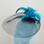Turquoise and Black Fascinator Jenni - FAS074