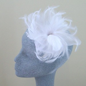 White Fascinator Tori - FAS082