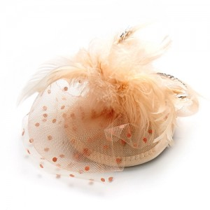 Peach Fascinator Donna - FAS085