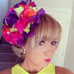 Flower Fascinator Hat Summer Brights - FAS244