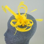Fluorescent Yellow Fascinator Pauline - FAS105