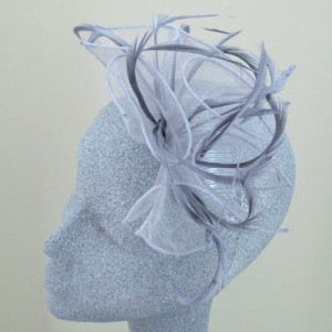 Grey Fascinator Gabriella - FAS036