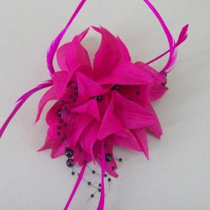 Hot Pink Fascinator Becca FAS229