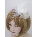 Ivory Fascinator Lily - FAA003
