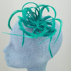 Jade Green Fascinator Beau - FAS009