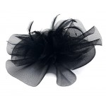 Large Black Fascinator Samina - FAS099