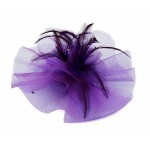 Large Purple Fascinator Gabrielle - FAS208