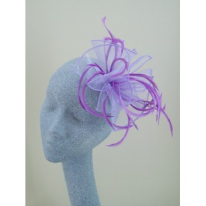Lavender Purple Fascinator Carys - FAS201