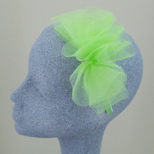 Lime Green Fascinator Fern - FAS012