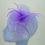 Mauve Purple Fascinator Aisling - FAS055