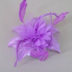 Mauve Purple Fascinator Jane FAS238