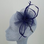 Navy Blue Fascinator Chloe - FAS028