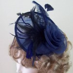 Navy Blue Fascinator Hat Sophia - FAS240
